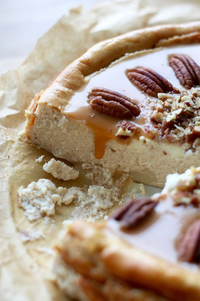Cheesecake with saly caramel